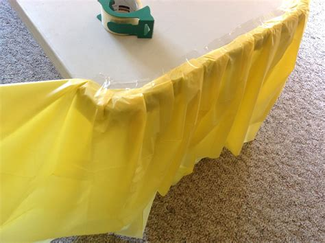 Diy Ruffled Plastic Table Skirt