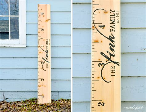 Diy Ruler Growth Chart 7 Ft