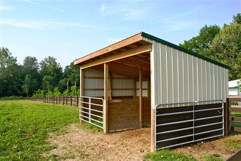 Diy Run In Shed For Horses