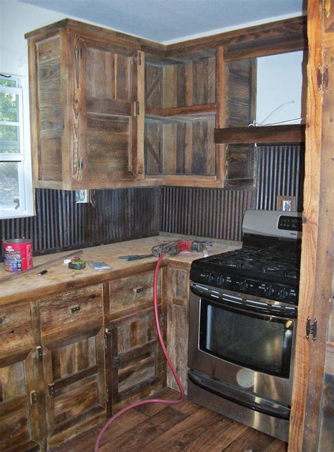 Diy Rustic Barn Wood Kitchen Cabinets