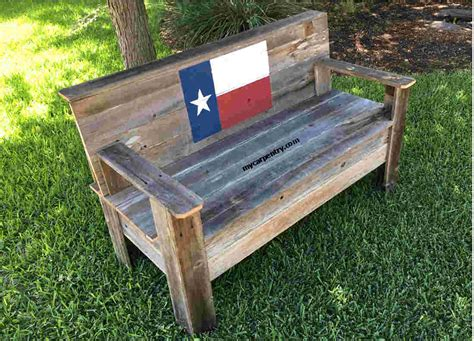 Diy Rustic Bench With Back