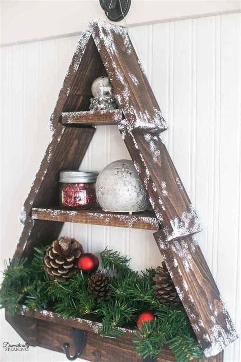 Diy Rustic Christmas Tree Shelf