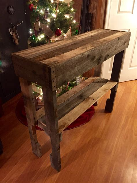 Diy Rustic Console Table Pallets