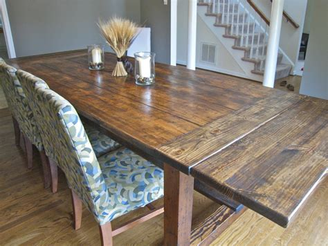 Diy Rustic Dining Table Plans