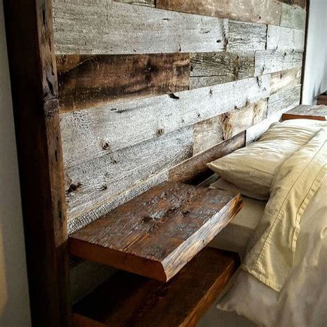 Diy Rustic Headboard Plans With Shelves