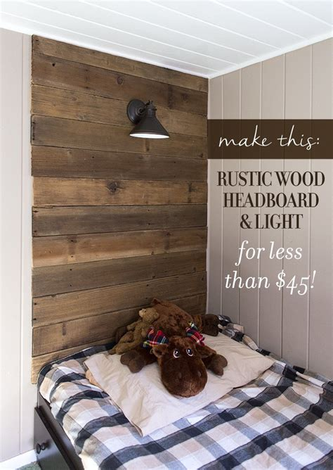 Diy Rustic Headboard With Lights