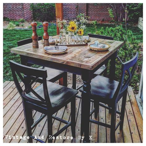 Diy Rustic High Table