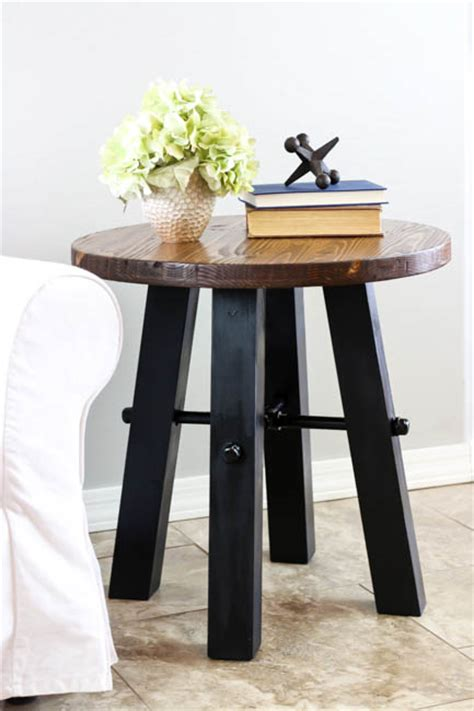 Diy Rustic Industrial Side Tables