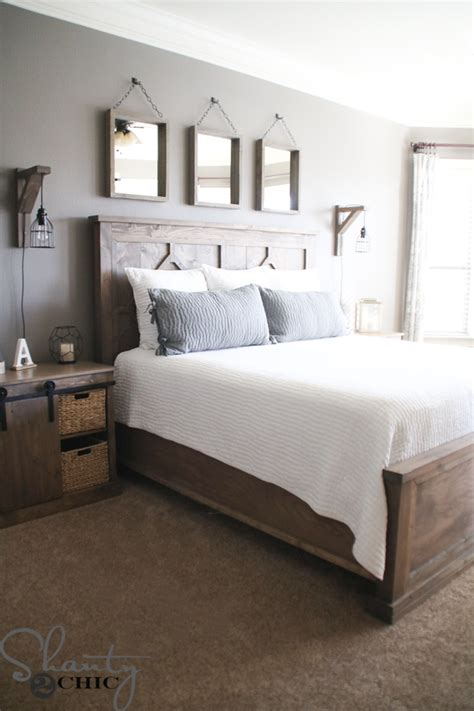 Diy Rustic King Bed