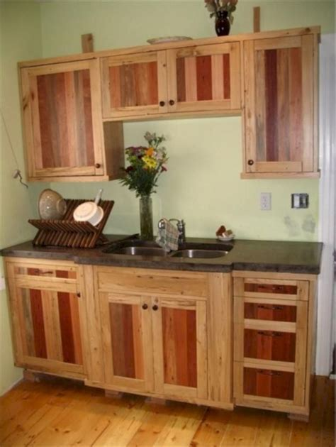 Diy Rustic Kitchen Cabinets Made Of Pallet