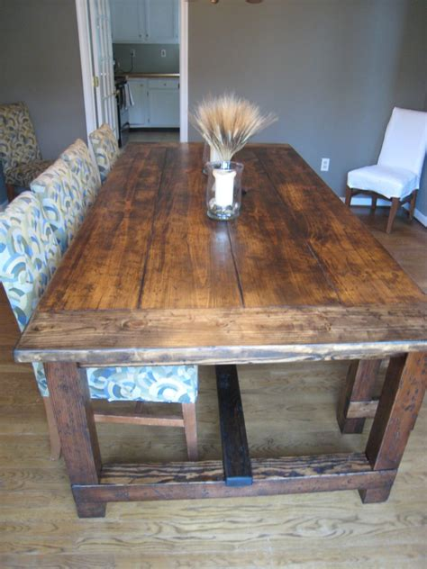 Diy Rustic Kitchen Table On Budget