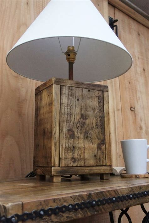Diy Rustic Lamp Stands