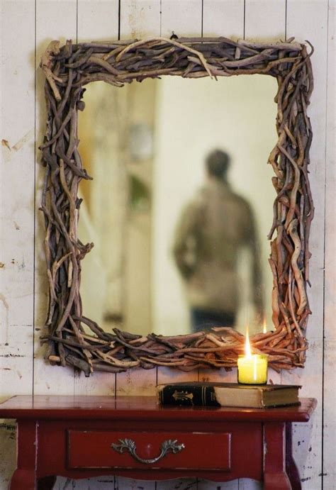 Diy Rustic Mirror Embellishment