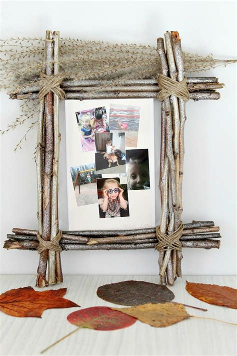 Diy Rustic Picture Frame With Twigs