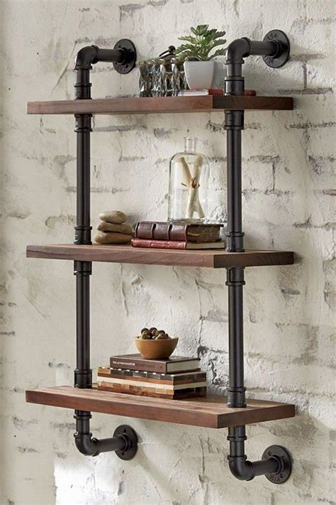 Diy Rustic Pipe Bookcase