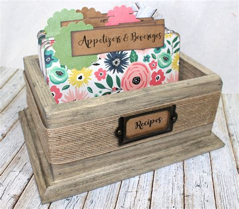 Diy Rustic Recipe Box