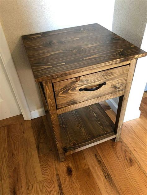 Diy Rustic Side Table With Drawer