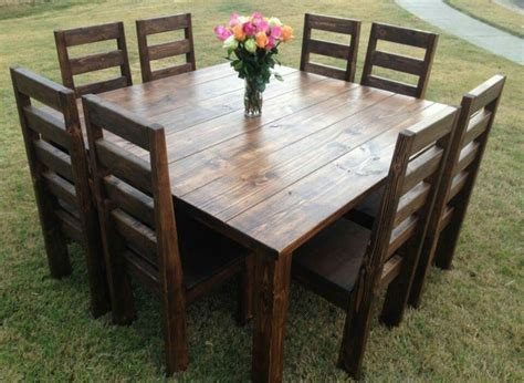 Diy Rustic Square Dining Table