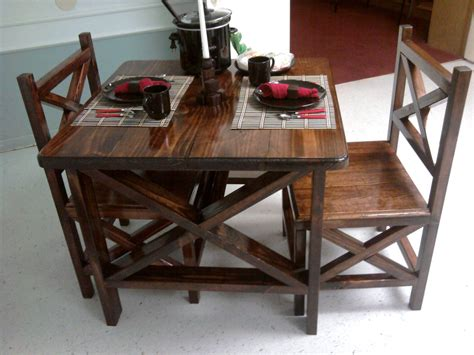 Diy Rustic Table And Chairs