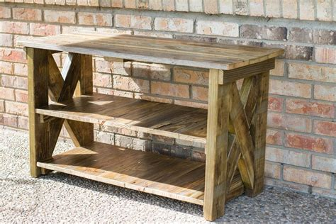 Diy Rustic Tv Stand Using 2x4s