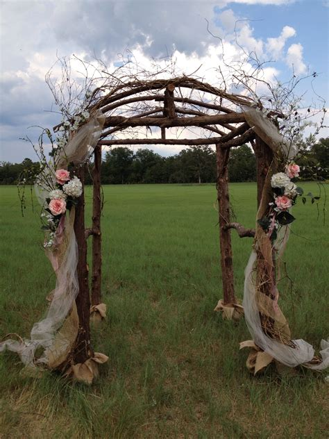 Diy Rustic Wedding Arbor