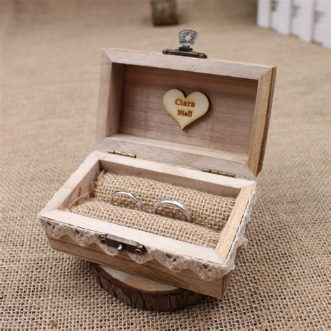 Diy Rustic Wedding Ring Box