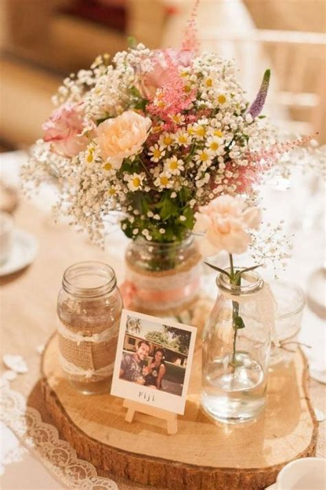 Diy Rustic Wedding Table Centerpieces