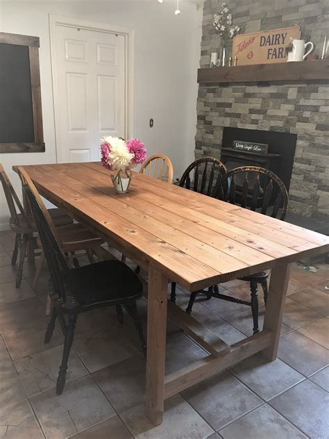 Diy Rustic White Farmhouse Table