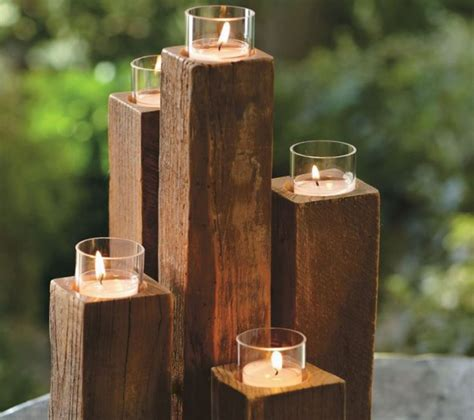 Diy Rustic Wood Candle Holder