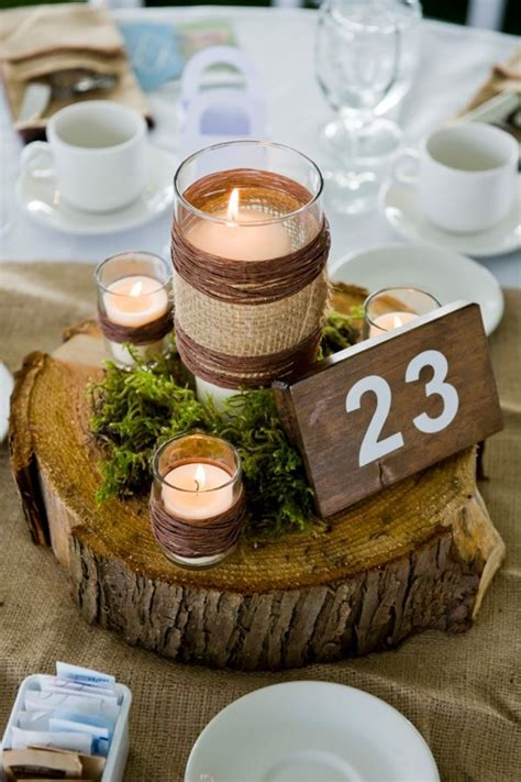 Diy Rustic Wood Centerpieces