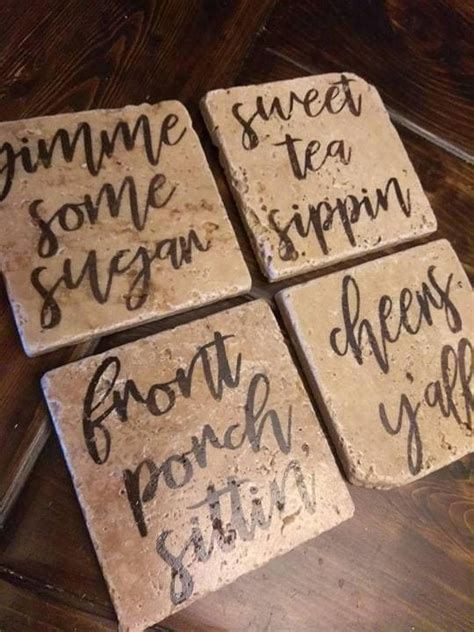 Diy Rustic Wood Coasters For The Holidays