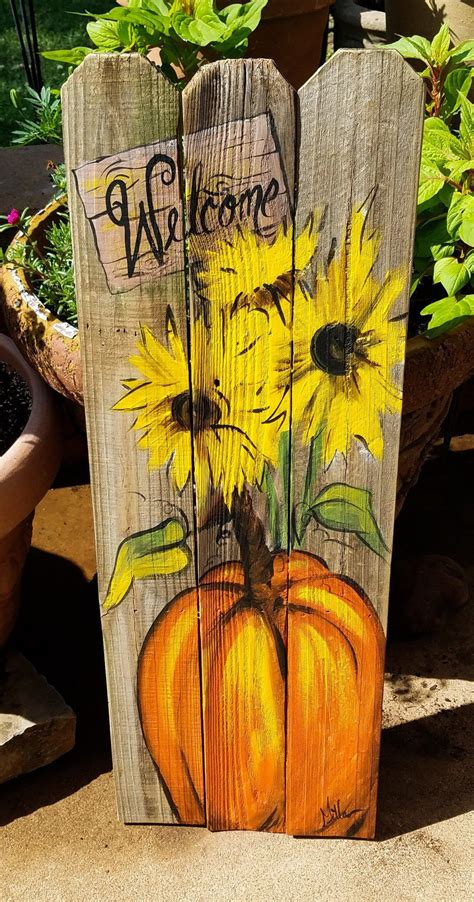 Diy Rustic Wood Pumpkins Front Porch