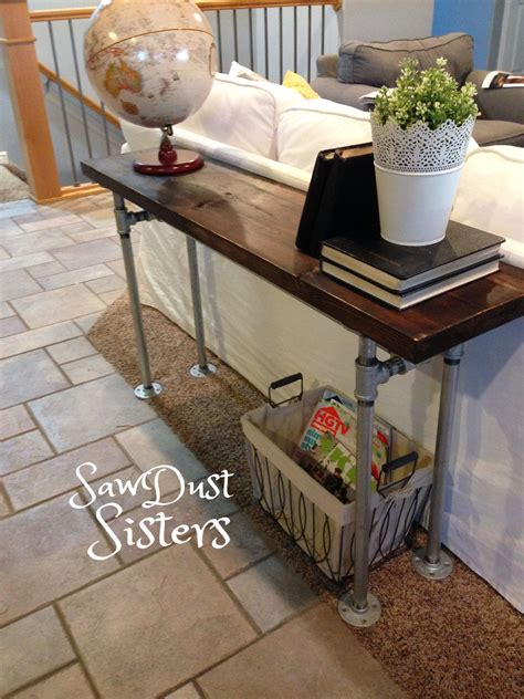Diy Rustic Wood Sofa Table With Pvc Pipe