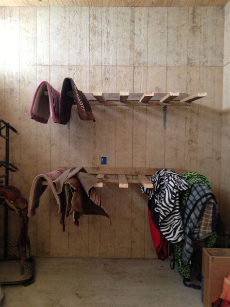 Diy Saddle Pad Storage Horse