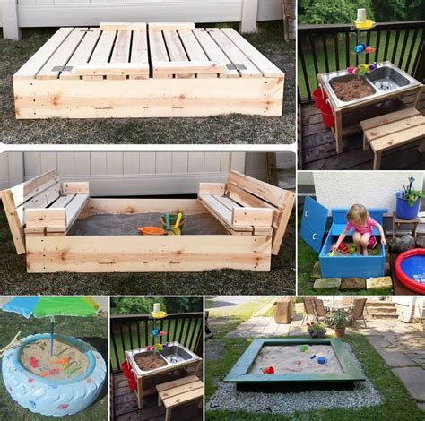 Diy Sandbox With Bench