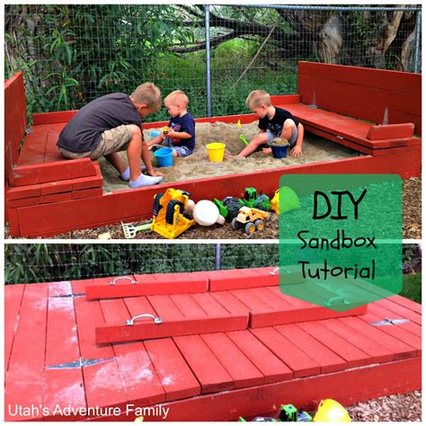 Diy Sandbox With Cover That Turns Into Benches