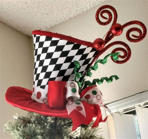 Diy Santa Hat Tree Topper