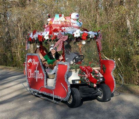 Diy Santa Sleigh On Golf Cart