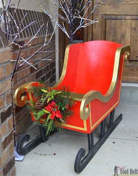 Diy Santa Sleigh Prop For Pictures