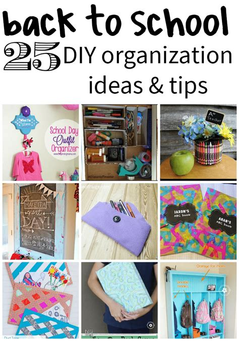 Diy School Organization