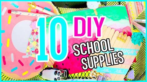 Diy School Supplies By Sara Beauty Corner