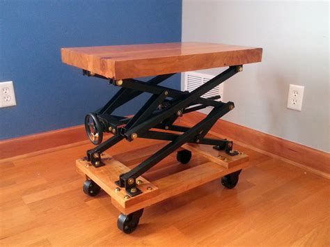 Diy Scissor Jack Table