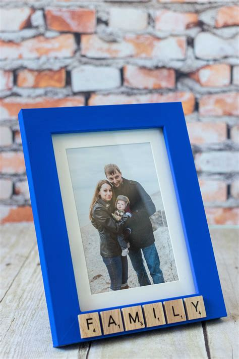 Diy Scrabble Tile Words In Picture Frame