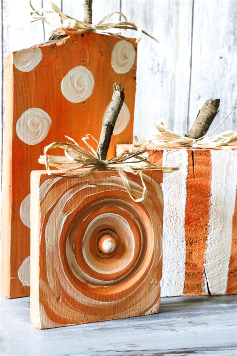 Diy Scrap Wood Pumpkins Images
