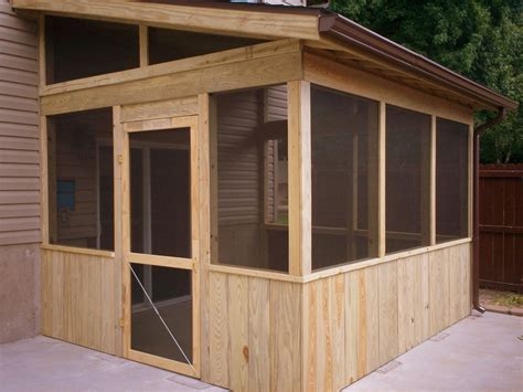 Diy Screen Porch Plans