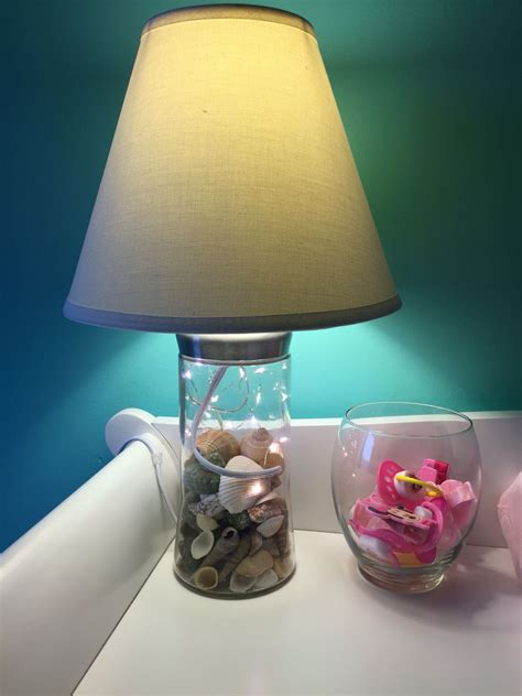 Diy Seashell Table Lamp