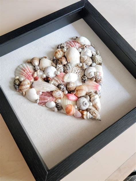 Diy Seashell Wood Art Frames