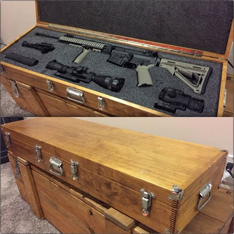 Diy Secure Wood Rifle Case