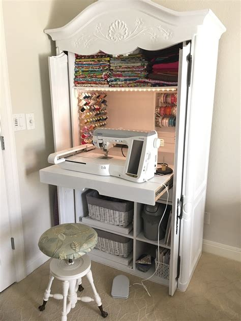 Diy Sewing Cabinet From Tv Armoire