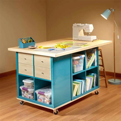 Diy Sewing Craft Table With Storage